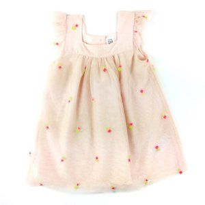 BabyGap Floral Embroidered Tulle Dress